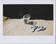 (bobby stokes) Tags: instaxwide instax instantcamera fujifilminstax guernsey analogue film instant beach sea ocean flipflops sandals bucket