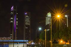 Torres Busines (Julio Milln) Tags: torresbusiness madrid exploracinurbana largaexposicin nocturna