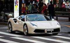 (seua_yai) Tags: car automobile asia korea southkorea korean seoul urban city street wheels korea2015 urbanmobility go koreaseoul2016 ferarri supercar exotic italian