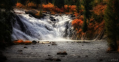 Sparkling Waters (Achint Thomas) Tags: autumn fall canon waterfall shine lewis sparkle yellowstonenationalpark yellowstone wyoming goldenhour shimmer