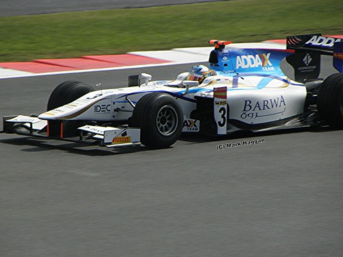 Charles Pic in GP2 at the 2011 British Grand Prix at Silverstone