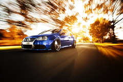 Frankie Mule // First Class Fitment (Ronaldo.S) Tags: autumn motion fall vw movement nikon first automotive class rig r32 sunflare widebody mk5 fitment d700 canibeat