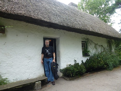 John at thatch house in folk park, Bunratty Castle