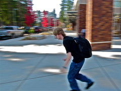 Blurred Movement (Eearslya) Tags: iso80 aperturef8 shutterspeed140 whereinfrontoftheschool whenoctober112011