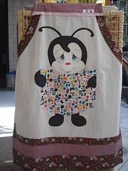 Avental Joaninha/com bolso (Pintura em tecido. Panos de prato.) Tags: avental