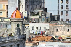 Havana keeps on singing.. (areyarey) Tags: street old city travel roof urban building tourism skyline architecture facade contrast vintage downtown cityscape exterior view rooftops decay balcony traditional capital havana cuba colonial perspective vieja scene structure historic neighborhood communist communism latin caribbean aged hispanic cuban habana toursim areyarey