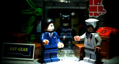 What do we have here Lucious? (A Civilian) Tags: lego bruce wayne super suit fox batman electro heroes lucious