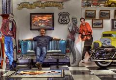 Four Friends (Ken Yuel Photography) Tags: newmexico marilyn route66 elvis roadtrip harleydavidson rocknroll goodfriends steele jimmydean 57chev oldroute66 digitalagent kenyuel jimthiessen