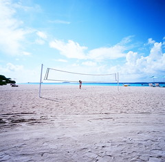 (lsshno1) Tags: sea film beach water season t four kodak resort f45 hasselblad maldives e100vs cf swc 903 38mm biogon