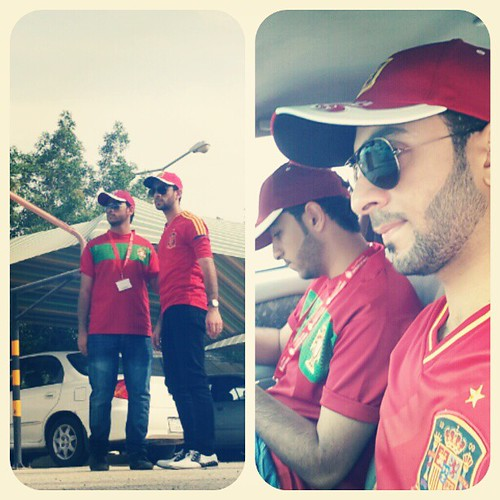 me & webo .. my brother .. @aliw3bo  .. #brothers #friends #spain #portugal #sunglasses #red #uob