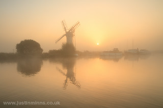 Sunrise on the broads