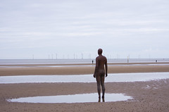 looking out to sea (-klik-) Tags: sea sculpture water wind anthony gormley turbines