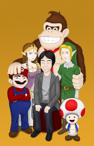 Shigeru Miyamoto, obra de Andy Cortez