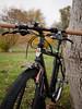 black bike (LAZUR tomek pietek) Tags: city autumn brown black bike bicycle paint italia hand spray made turbo mtb formula warsaw custom 1980 warszawa rower oro selle kenda mhl kelys miejski k18