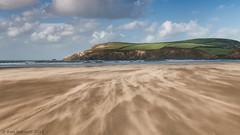 Shifting Sands (K_D_B 2 Million views. Thanks) Tags: sea sky cloud beach water canon sand surf trails blowing newport pembrokeshire 30d kdb traethmawr newportsands sigma1770f28dcosmacro morfahd