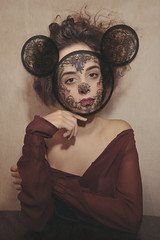 Irving. (georgemang) Tags: mask photographers mickeymouse recreation mouseears irvingpenn lisacant eirini lacemask