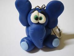 Chaveiro Elefante- Zoião (1) (Kelly arte e costura) Tags: artesanato biscuit trabalhosmanuais lembrancinhas chaveiros porcelanafria