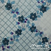 Vintage sheet - blue/purple lattice