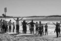 Dee Why Beach, Sydney (Julie Byrnes) Tags: blackandwhite beach noiretblanc candid streetphotography deewhy beachproject juliebyrnes