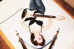 152.365 (kattra) Tags: selfportrait vancouver october apartment guitar bodylanguage 365 electricguitar