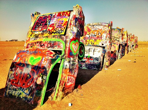 "Cadillac Ranch - Amarillo, Texas • <a style=""font-size:0.8em;"" href=""http://www.flickr.com/photos/20810644@N05/8142774712/"" target=""_blank"">View on Flickr</a>"