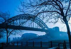 "Fog on the Tyne with Tyne Bridge in Newcastle • <a style=""font-size:0.8em;"" href=""https://www.flickr.com/photos/21540187@N07/8142783337/"" target=""_blank"">View on Flickr</a>"