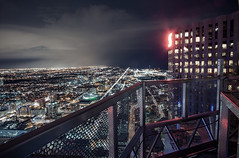 Riding in Baskets (tomms) Tags: city sunset toronto high downtown vertigo spire scotia core redsign rooftopping