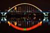 Halloween Glow (Doug Wallick) Tags: bridge orange halloween minnesota skyline reflections river mississippi minneapolis lowry lightroom a55 picmonkey