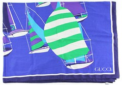 L14. Large and Unusual Cotton Sarong Wrap, Gucci