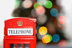 London. (Awkwardest. ) Tags: christmas inglaterra england london lights navidad luces nikon bokeh telephone cabina londres d3100