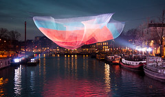 Amsterdam Light Festival 1 (genf) Tags: winter light color amsterdam festival night evening sony amstel kleur a700 lichtfestival
