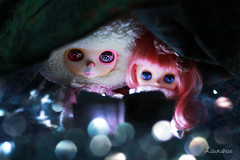 later that night they snuggled and hugged... (launshae) Tags: pink book valentine story blythe francoise ananassa middie launshae
