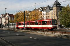 Rheinbahn 4274 [Dusseldorf stadtbahn] U76 (Howard_Pulling) Tags: canon germany deutschland photo october foto picture german ubahn dusseldorf 2009 brucke rheinbahn duewag 400d duwag dueag oberkesseler