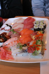 IMG_9003 (Winsland Lee) Tags: pink food green project sushi photography avocado ginger rainbow colorful bright sashimi salmon shrimp delicious hana roll rolls soysauce 365 eel wasabi tuna lots nori yellowtail mackarel