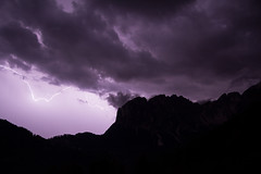 Temporale sulle Odle (Umberto Marcacci) Tags: sky panorama mountain nature montagne landscape natura cielo lightning alto montagna thunder trentino dolomiti temporale adige fulmine odle