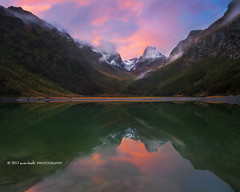 Prelude (Dylan Toh) Tags: sunset newzealand mountain reflection landscape photography mackenzie dee lakemckenzie routeburn gnd everlook earlandfalls thepowerofnow soundreel