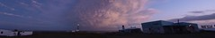 2011-01 Polonio tornazul (Nacho GV (Krst-e)) Tags: ocean sunset sea sky naturaleza beach nature clouds faro uruguay atardecer evening mar twilight cabo dusk playa panoramic oxido atlantic cielo panoramica nubes tormenta rancho choza oceano atlantico oxidado hierro panoramico polonio