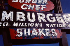 Burger Chef Sign (Jay Phagan) Tags: hamburger seventies ektachrome canonftb corpuschristitexas burgerchef
