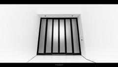 [ Elevator to Another World ] (bonnix (Scotty)) Tags: door blackandwhite bw museum stuttgart elevator porsche nikond700 nikkor142428 bonnix