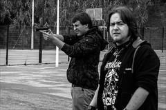 P9180497 Spain Basque Country San Sebastian (Dave Curtis) Tags: 2013 em5 europe omd olympus sansebastian spain gun local boys lads metallica tshirt basque country