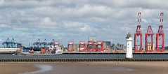 Liverpool2 (The Crewe Chronicler) Tags: mersey rivermersey docks cranes crane ship containers containership lighthouse perchrocklighthouse sea seaside beach sand seaforth liverpool2 liverpool newbrighton wirral thewirral canon canon7dmarkii