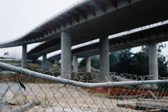 101 Overpass Construction (ecw218) Tags: san francisco presidio overpass highway doyle drive parkway construction fog mist cloudy 101 concrete bridge chain link fence bent broken site