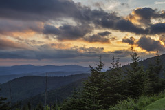Great Smoky Mountains National Park (squeemu) Tags: park trees sunset cloud mountains nature cloudy hiking tennessee great northcarolina hike hills national smoky