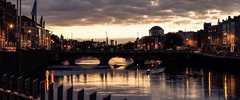 The River Liffey in my home town Dublin looking amazing (jwhiteireland) Tags: river liffey dublin city dusk ireland