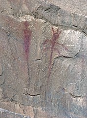 Pictographs at Sego Canyon (Ron Wolf) Tags: 42gr275 anthropology archaeology blm nrhp nationalregisterofhistoricplaces nativeamerican segocanyon thompsonwashrockartdistrict anthromorph anthropomorph petroglyph pictograph rockart utah