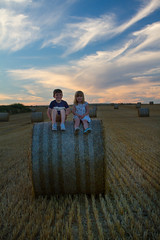 IMG_9941 (ct_purley) Tags: hay bales isle wight canon 7d fields sunny children brother sister