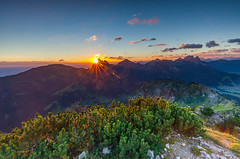 Good Morning Tyrol (Harold van den Berge) Tags: aggenstein allgu alpen alps austria bergen berglandschap bergtop cadzand clouds gipfel haroldvandenberge hiking landscape landschap leefilter lucht morninglight mountains ochtendlicht oostenrijk outdoor rocks sky stenen summit sun sunrise tannheim tannheimertal wolken zonsopkomst