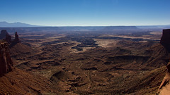 Mesa Arch View Panoramic (Clmapicture) Tags: landscape canoneos550d mesaarch moab canyon