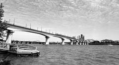 hantaxidock (Lig Ynnek) Tags: seoul southkorea dangsan bnw blackenedwhite 120 mediumformat pentax67 px125 film analog hanriver dock bridge subway metro train hapjeong