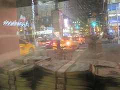 Narcos Bus Shelter Pile O Money AD 5224 (Brechtbug) Tags: narcos tv show bus stop shelter ad with piles slightly singed real fake money or is it 2016 nyc 09102016 midtown manhattan new york city 49th street 7th ave st avenue moola bogus